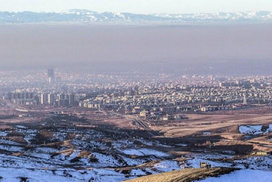 هوای پایتخت برای گروههای حساس، ناسالم است