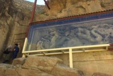 تلفیق هنر ایرانی و چینی در یک معبد باستانی با نقش اژدها