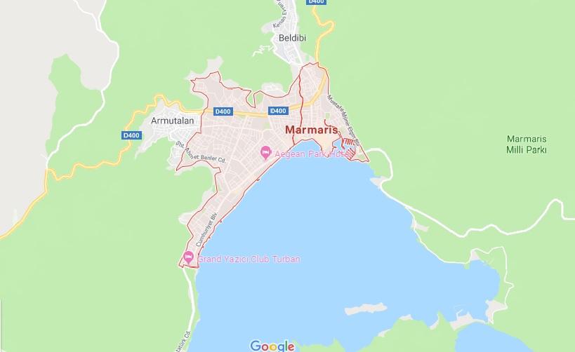 نقشه مارماریس