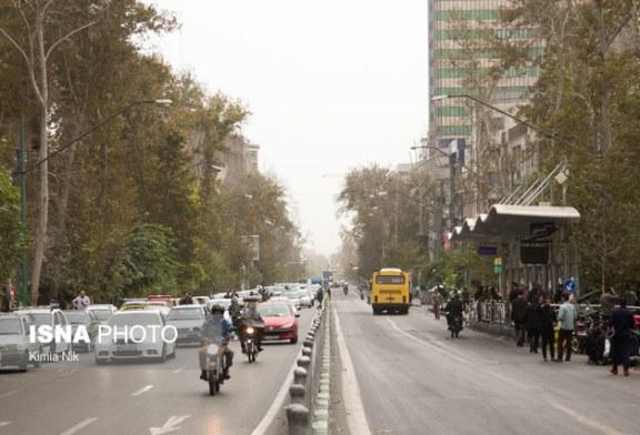 افزایش سرعت وزش باد و آلایندهها در هوای تهران